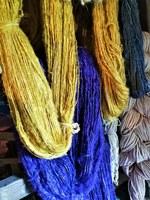 Le Barroux, la lana dei lama tinta con colori vegetali