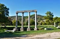 Via Domizia, colonne a Riez-la-Romaine © ADT04