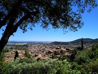 Hyères e la costa viste da Villa Noailles