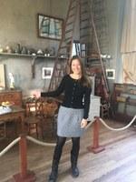Sonia Gonzini nell'atelier di Cezanne