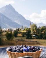 Serre Chevalier Vallée Briançon, la torta ai mirtilli © Paul Brechu