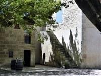 Mas de Valériole - Un angolo ombreggiato della corte