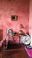 Bastide de l'Adrech, il salone rosso, particolare