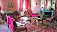 Bastide de l'Adrech, il salone rosso