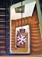 Bastide de l'Adrech, la scalinata con le antiche tomettes