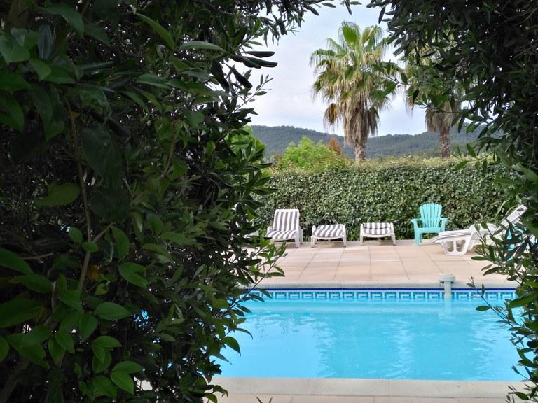 Domaine de l'Aufrêne, la piscina