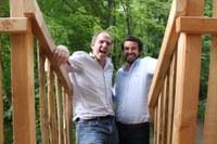 Gaspard ed Emanuel, gli 'inventori' delle palafitte © Cabanes Nature & SPA