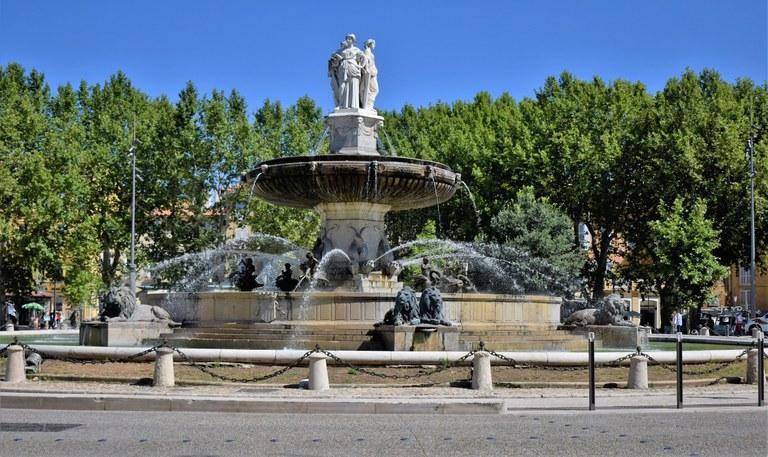 Aix-en-Provence, fontana della Rotonda © Francesca Molinari