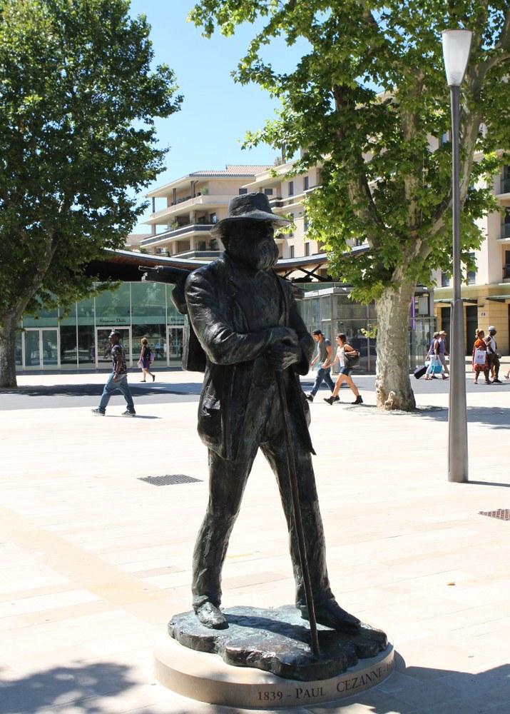 Aix-en-Provence, la statua di Paul Cézanne