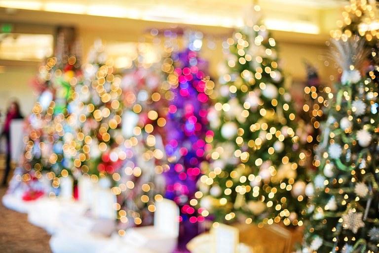 Alberi di Natale decorati
