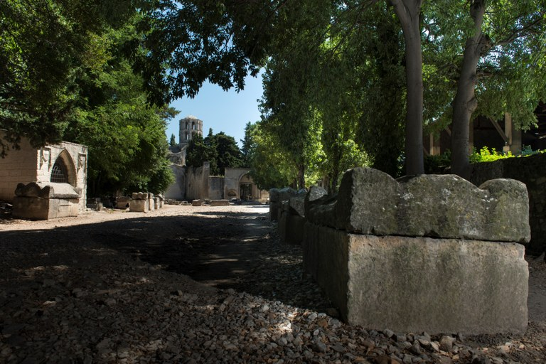 Arles, gli Alyscamps © Lionel Roux - OT Arles