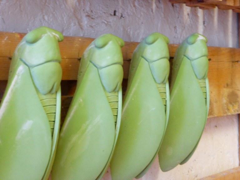 Artigianato provenzale - Le cicale verdi di Christian Frisetti