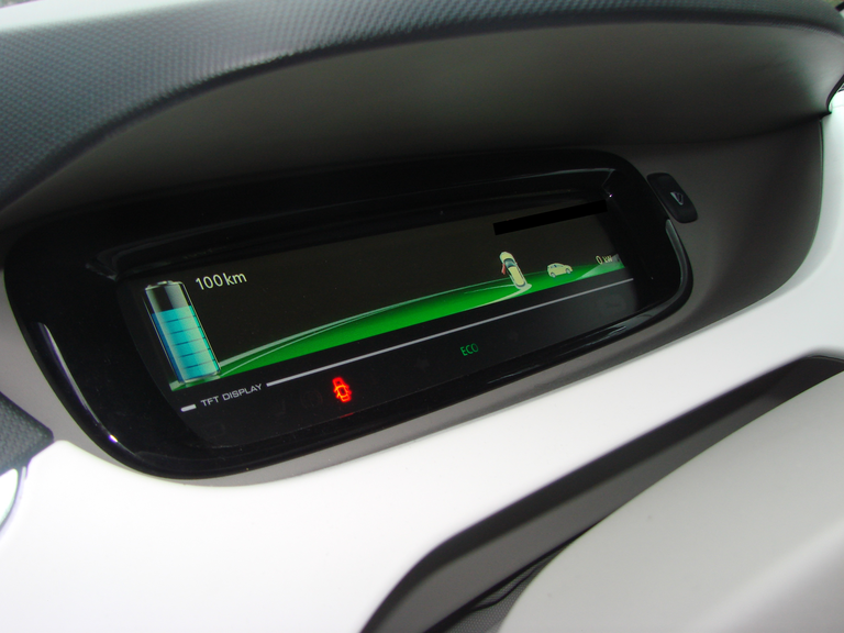 Auto elettrica, display