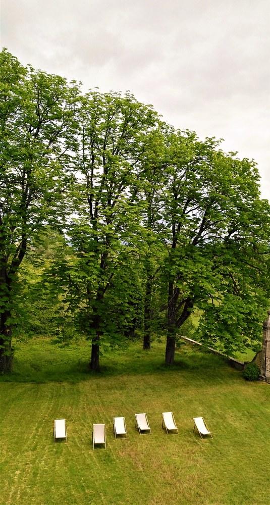 Bastide de l'Adrech, una veduta del parco