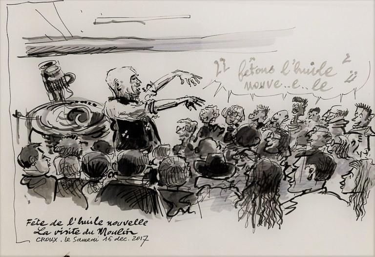 Bastide du Laval, festa dell'olio novello, illustrazione