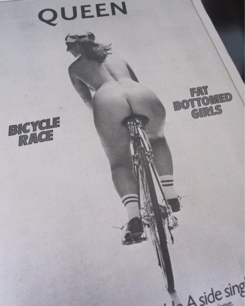Bicycle Race - Fat Bottomed Girls, copertina originale