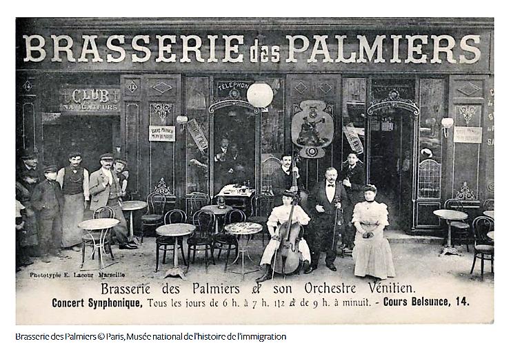 Brasserie des Palmiers, Marsiglia © Paris, Musée national de l'histoire de l'immigration
