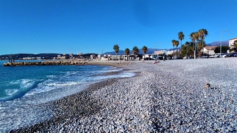 Cagnes-sur-Mer, la spiaggia