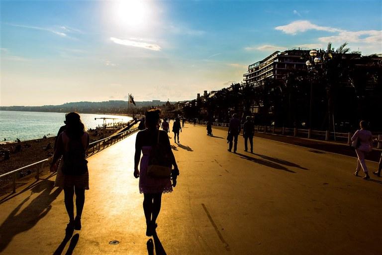 Cannes, tramonto sulla Croisette