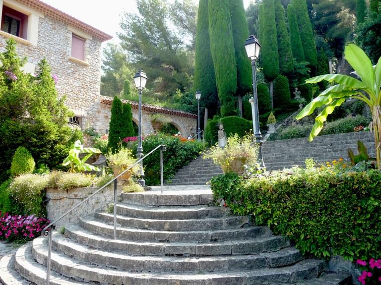Cannes, Villa Domergue, il giardino