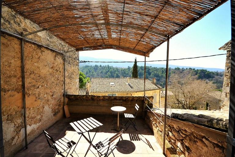 Casa nel villaggio di Ménerbes, la terrazza