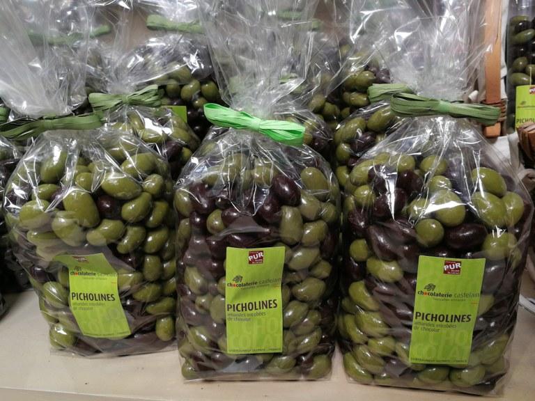 Chocolaterie Castelain, le mandorle rivestite di cioccolato, dette picholines