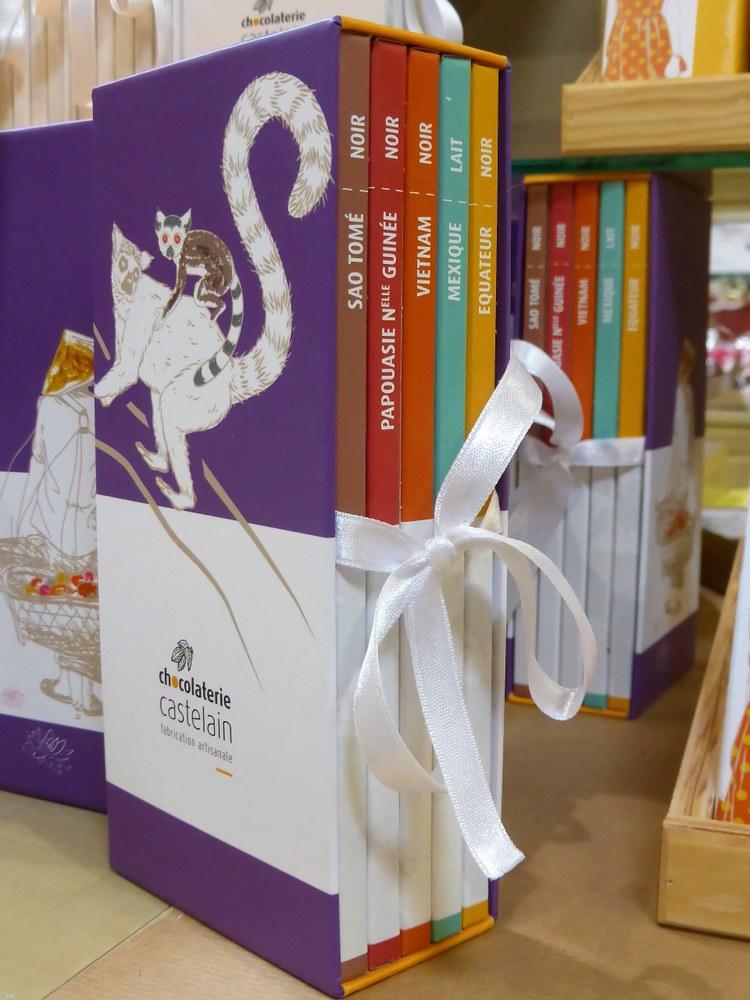 Chocolaterie Castelain, un cofanetto di 'libri' di cioccolato