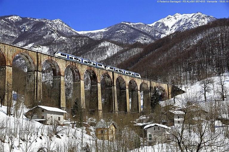 Ferrovia Cuneo-Ventimiglia-Nizza, inverno © Federico Santagati