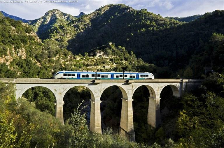 Ferrovia Cuneo-Ventimiglia-Nizza, viadotto panoramico
