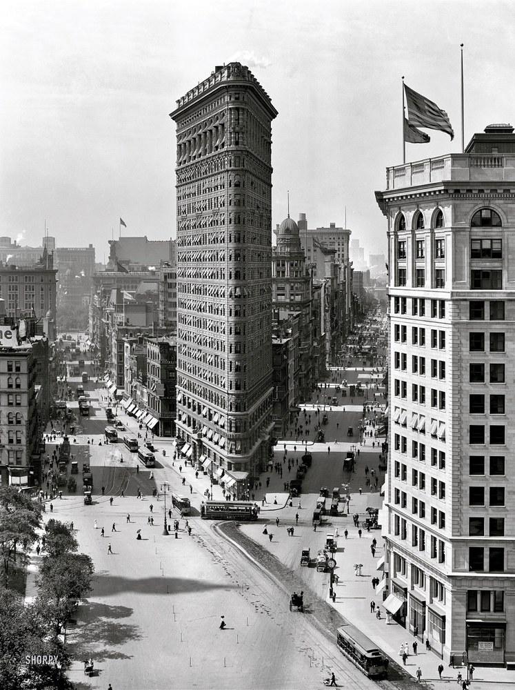 Flat Iron Building, New York, immagine d'epoca