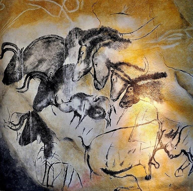 Grotta di Chauvet, figure di cavalli