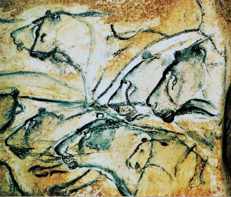 Grotta di Chauvet, figure di leoni