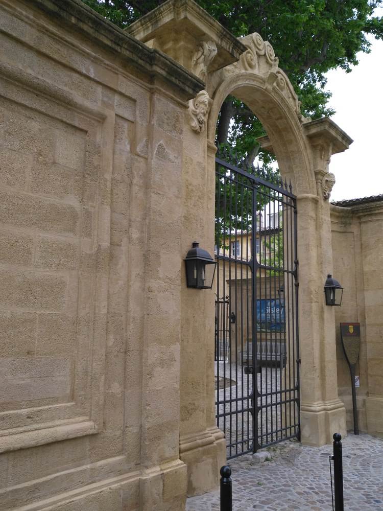 Hôtel de Caumont - Il portone d'ingresso