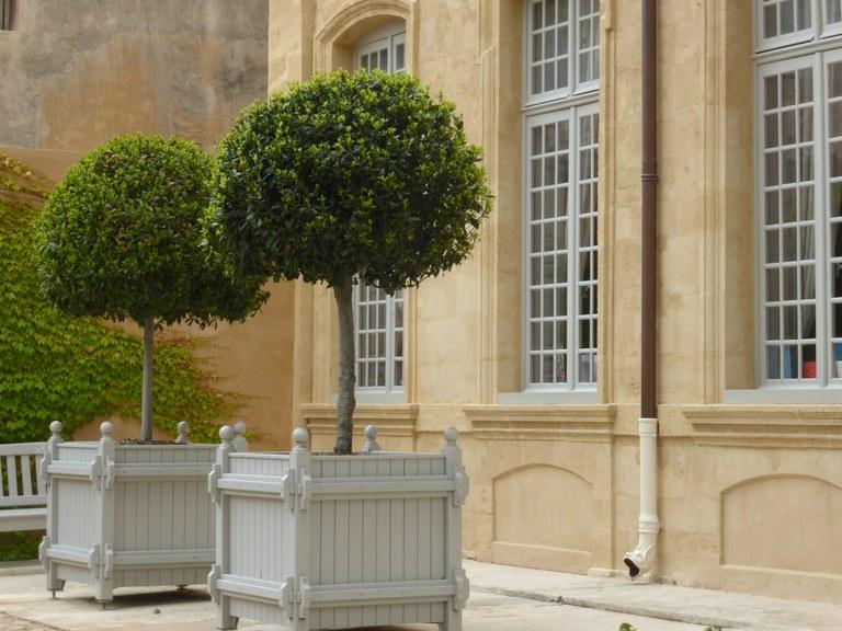 Hôtel de Caumont - Particolare del cortile d'onore