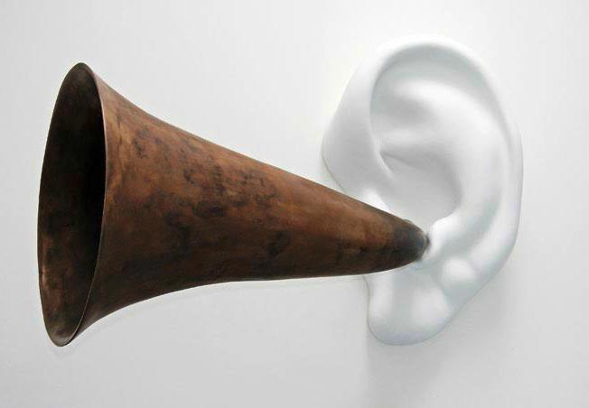 John Baldessari, Beethoven's Trumpet (with Ear) Opus# 127, 2007 © John Baldessari – Courtesy Marian Goodman