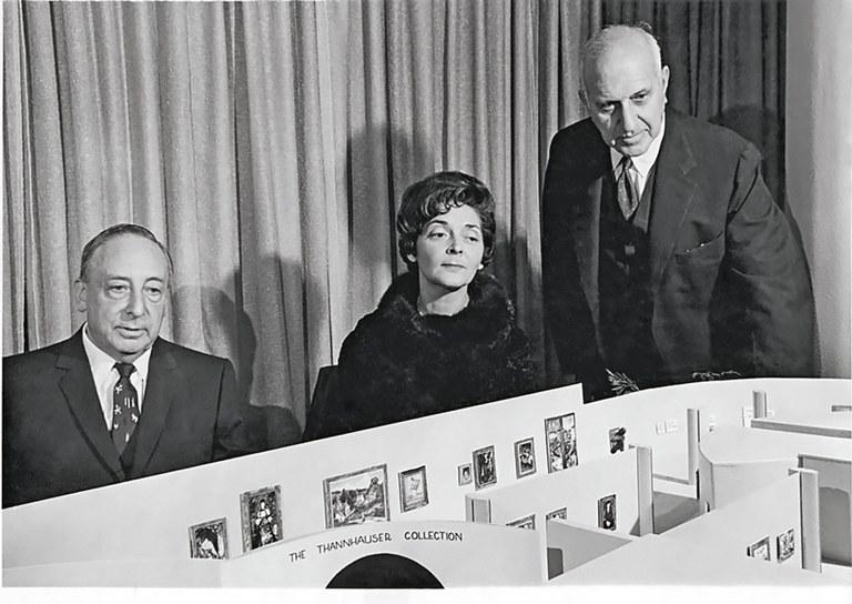 Justin et Hilde Thannhauser avec Harry Guggenheim © Solomon R. Guggenheim Foundation, New York