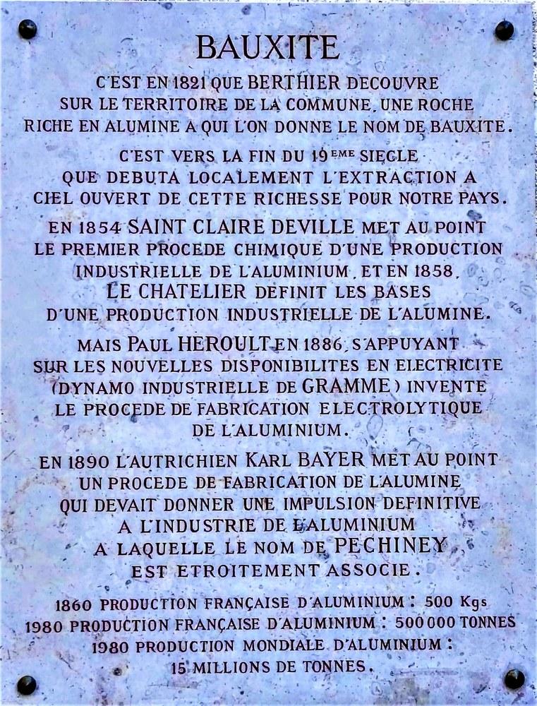 La bauxite, scoperta a Les Baux nel 1821