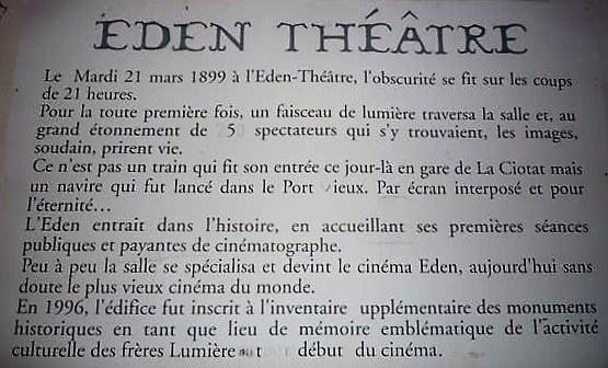 La Ciotat, storia del cinema Eden Theatre