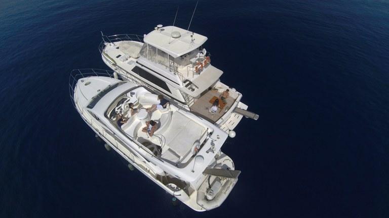 La comodità a bordo di un'imbarcazione a motore