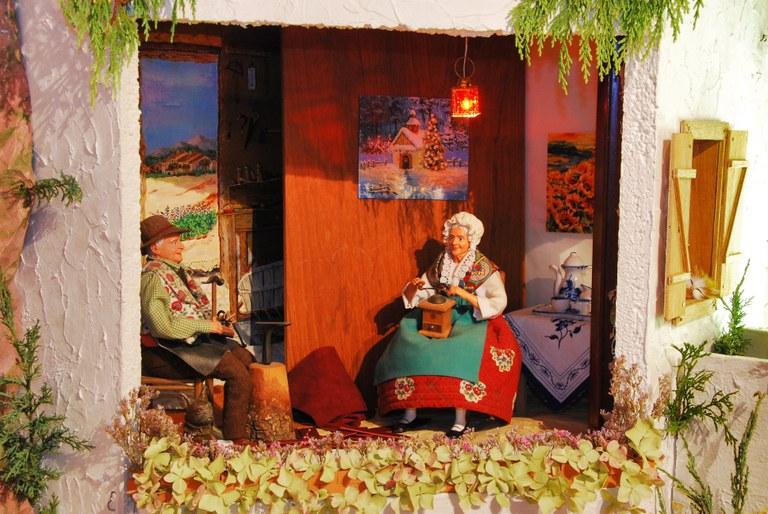 La coppia di vecchietti del presepe provenzale