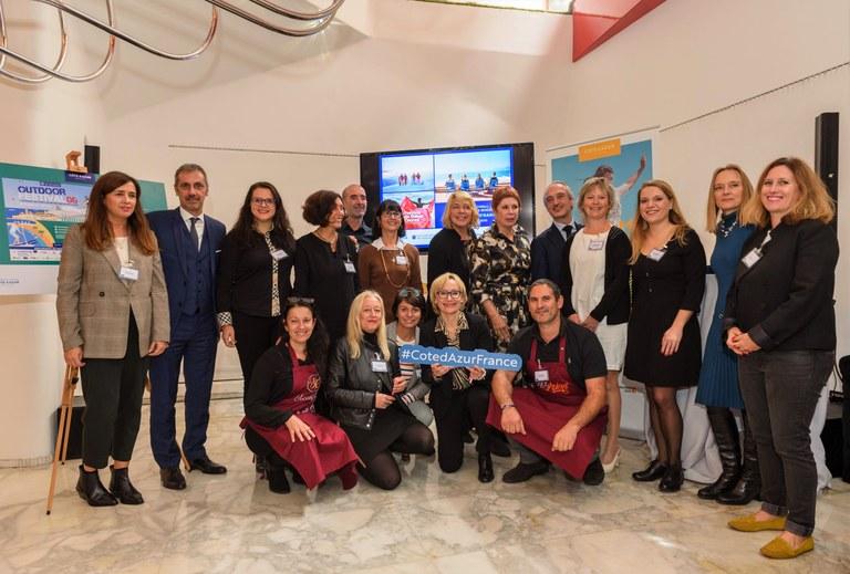 La delegazione della Costa Azzurra a Milano