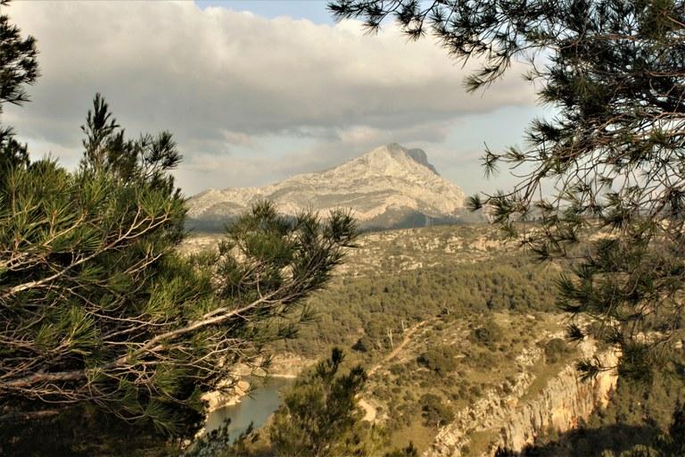 La montagne Sainte-Victoire in lontananza