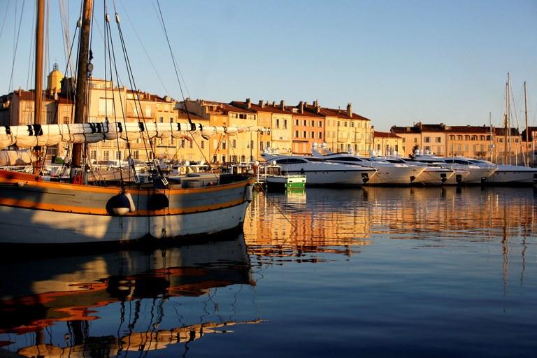 Le barche ormeggiate a Saint-Tropez © JL Chaix