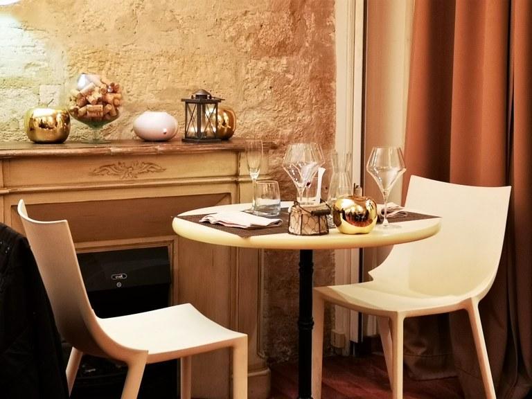 Le Goût du Jour di Avignone, i colori caldi dell'interno