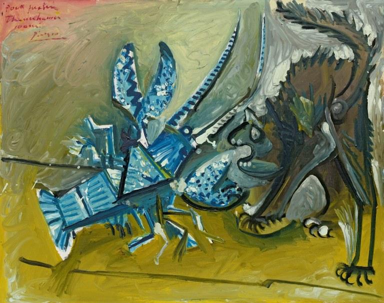 Le Homard et le chat, Mougins, Pablo Picasso, Solomon R. Guggenheim Museum, New York © Succession Picasso 2019
