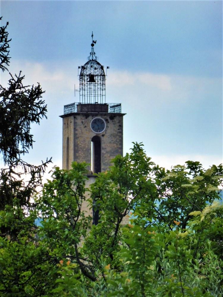 Manosque, il campanile visto da Lou Paraïs