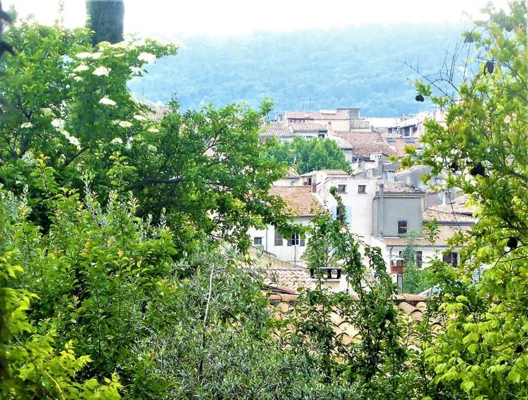 Manosque, vista dalla casa di Jean Giono