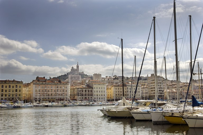 Marsiglia, barche all'ormeggio nel Vieux Port - Foto © Objectif Images  OTC Marseille