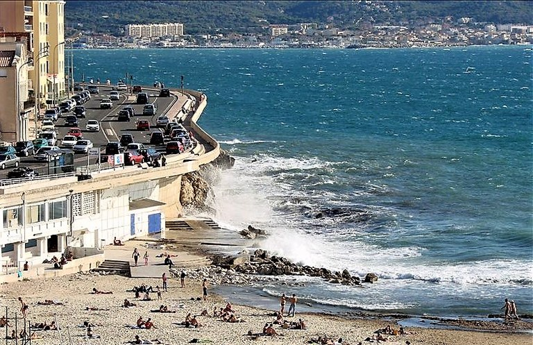 Marsiglia, Corniche Kennedy, plage du Prophète