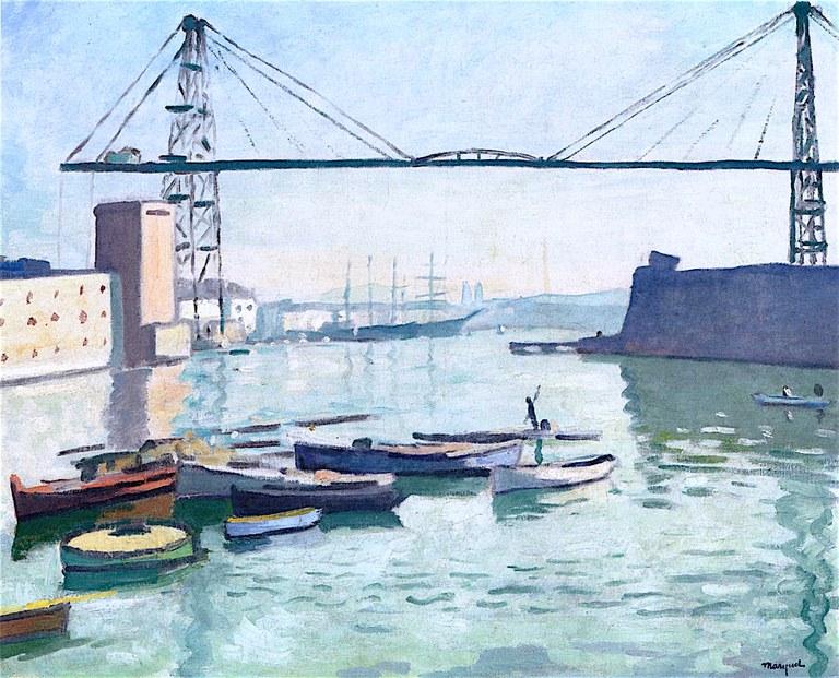 Marsiglia, il ponte trasportatore in un dipinto di Albert Marquet